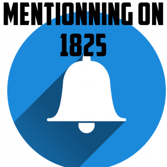 Mentionning on 1825 logo